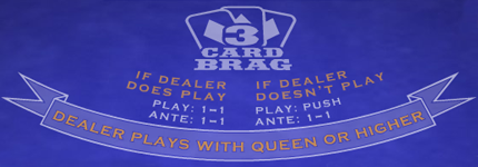 Play 3 Card Brag Table Game at Casino.com Australia