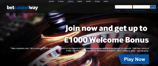 betway online casino