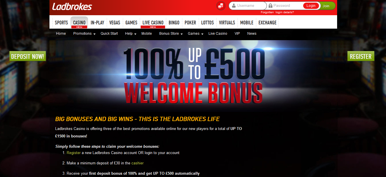 ladbrokes online casino welcome bonus