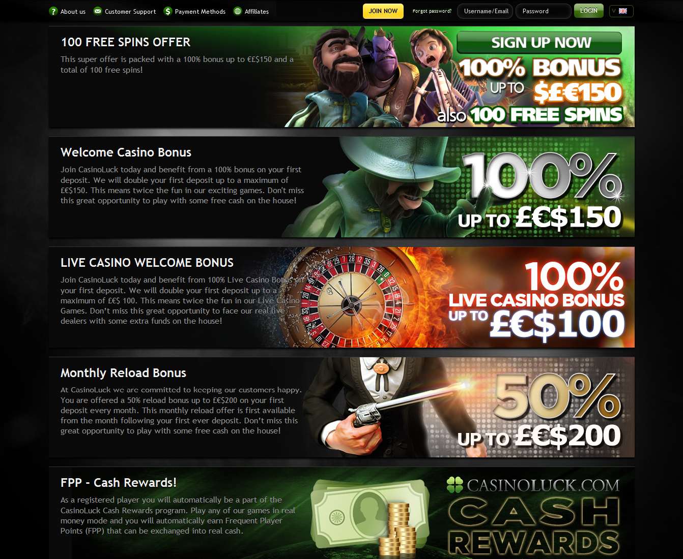 Casino Luck promotions