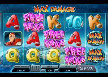 max damage online slot free spins