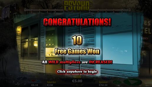 psycho online slot free spins