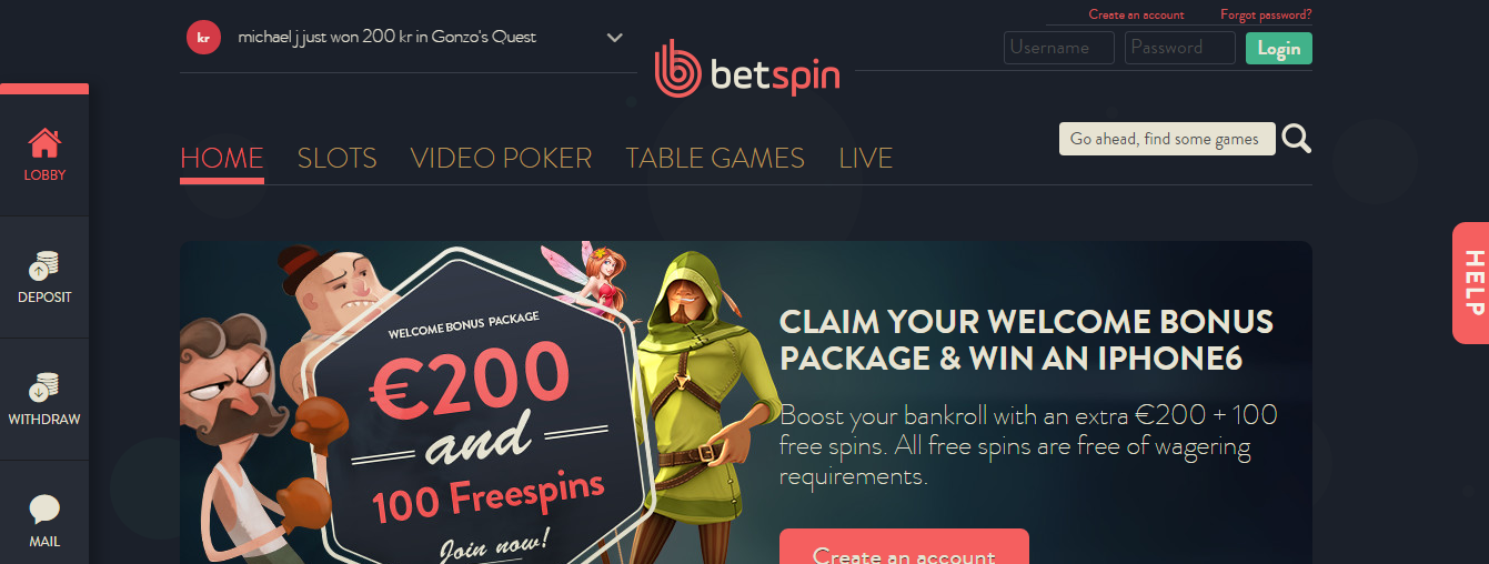 betspin online casino review