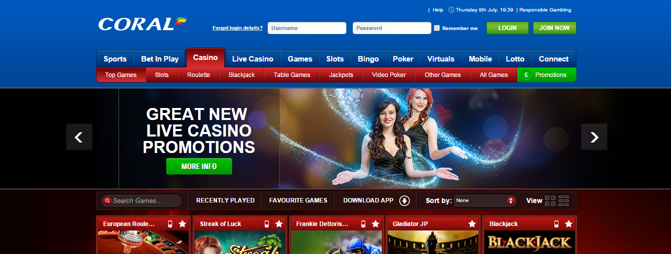 coral online casino review