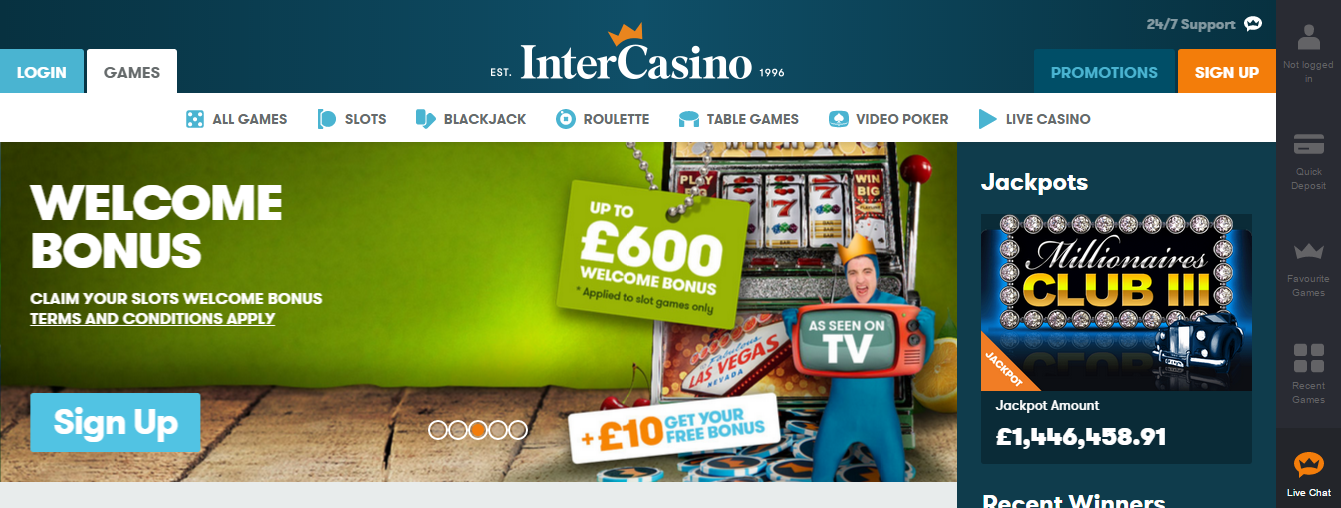 intercasino online casino review