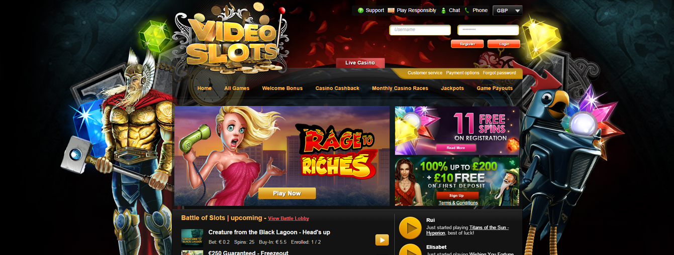 online casino sites videoslots